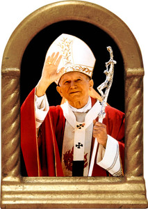 St. John Paul II Waving Desk Shrine