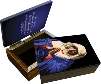 Madonna in Prayer Keepsake Box