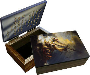 Storm at the Sea of Galilee Keepsake Box