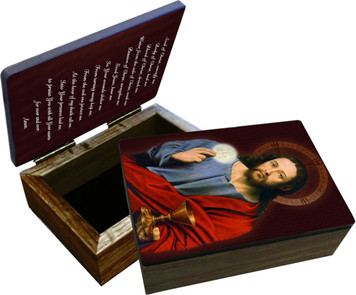 Christ Holding Eucharist Keepsake Box