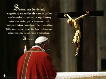 Spanish Pope Francis' Daily Prayer of Turning To Christ Poster
