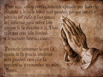 Spanish Act of Contrition Poster
