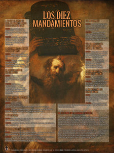 Spanish The Ten Commandments Explained Poster