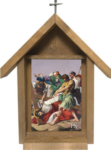 Stations of the Cross Handcrafted Deluxe Outdoor Shrine (Set of 14)