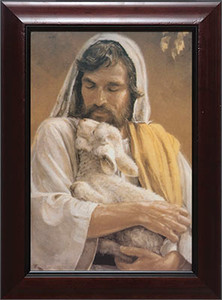The Good Shepherd - Cherry Framed Art