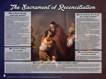 The Sacrament of Reconciliation Explained Poster