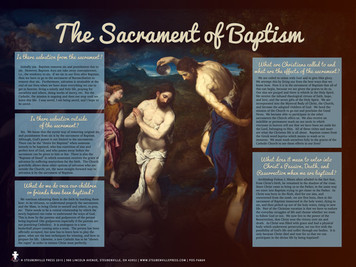 The Sacrament of Baptism Explained Poster