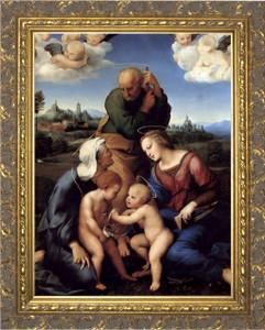 Canigiani Holy Family by Raphael - Gold Framed Art