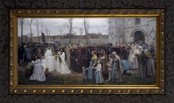 Plantation d'un calvaire - Ornate Dark Framed Art
