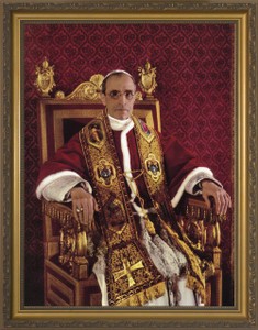 Venerable Pope Pius XII - Gold Framed Art