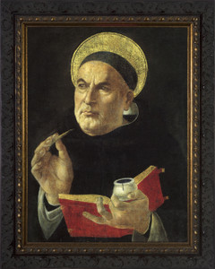 St. Thomas Aquinas - Ornate Dark Framed Art
