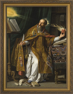 St. Augustine - Gold Framed Art