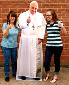 Pope Francis Thumbs Up Lifesize Standee