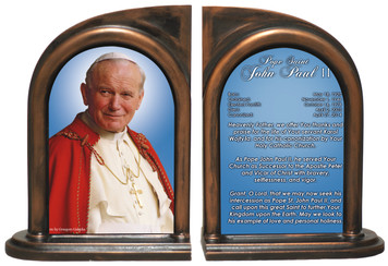 Pope John Paul II Sainthood Prayer Bookends