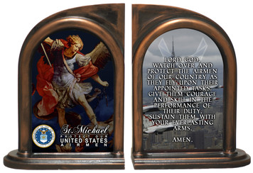 St. Michael Air Force Bookends