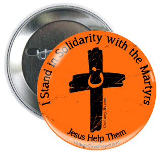 Orange Cross Project Martyr Solidarity Button