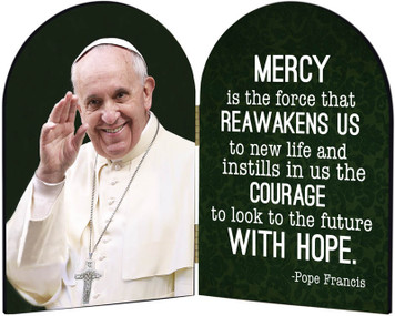 Pope Francis Waving Arched Diptych