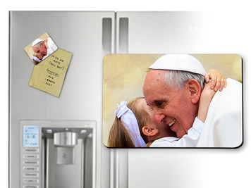 Pope Francis with Child Magnet