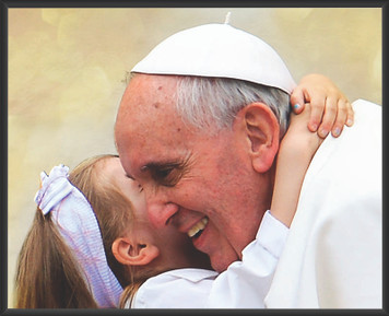 Pope Francis with Child Wall Plaque