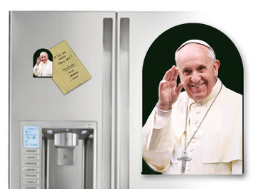 Pope Francis Waving Arched Magnet