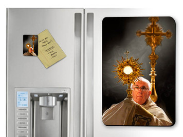 Pope Francis with Monstrance Magnet