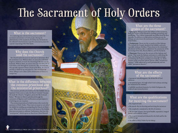 Holy Orders Explained Poster
