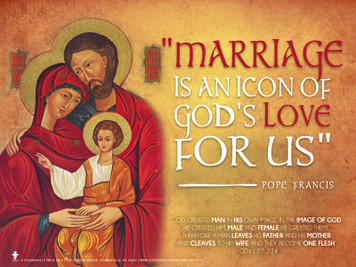 Icon of God's Love (Pope Francis) Family Poster