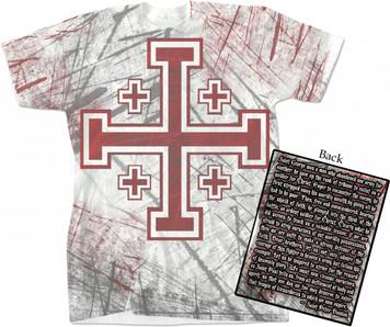 Crusader Cross Full Color T-Shirt