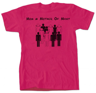 Mother of Many T-shirt Pink