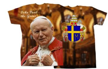 St. John Paul II Addressing the Faithful All Over Graphic shirt