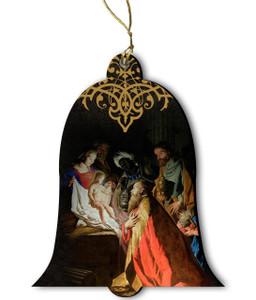 L'adoration des Mages by Matthias Stom Wood Ornament