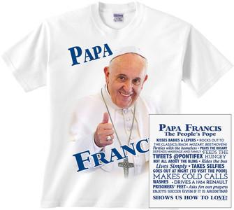 Papa Francis Children's Color T-Shirt