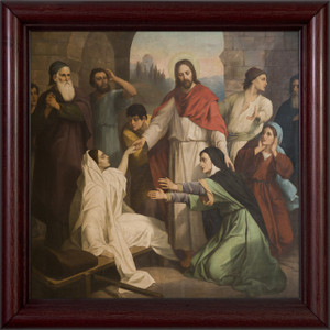 Jesus Healing the Daughter of Jairus Framed Art