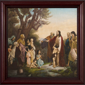 Jesus with the Women and Children Framed Art