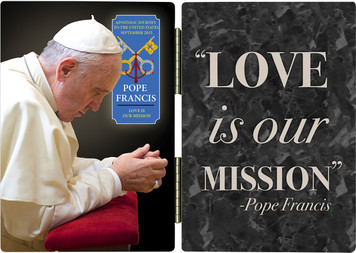 Pope Francis in Prayer Commemorative Apostolic Journey Diptych