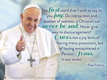 Pope Francis Thumbs Up Quote Poster