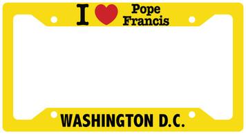 I Love Pope Francis Washington DC License Plate Frame