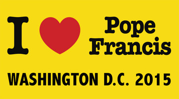 I Love Pope Francis Washington D.C.  2015  Bumper Sticker