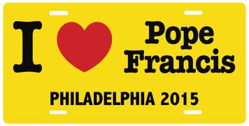 I Love Pope Francis Philadelphia 2015 License Plate