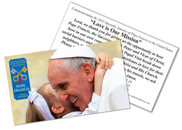Pope Francis embracing Child Commemorative Holy Card