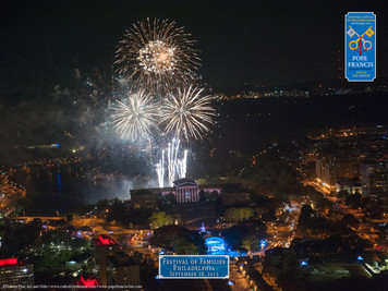 Festival of Families Large Fireworks Aerial Commemorative Print