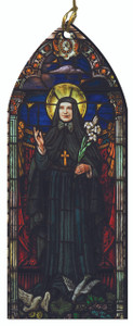 St. Frances Cabrini Stained Glass Wood Ornament