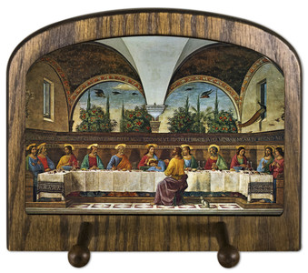 Last Supper by Ghirlandaio Horizontal Peg Holder