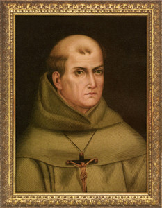 St. Junipero Serra Standard Gold Framed Art
