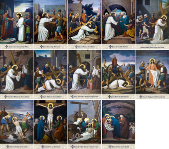 Emmerich Outdoor Aluminum Stations of the Cross plates (Set of 14)