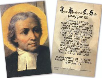 Jean Baptiste de la Salle Holy Cards