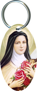 St. Therese Oval Keychain