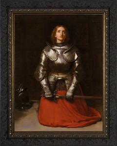 St. Joan of Arc by John Everett Millais Dark Ornate Frame