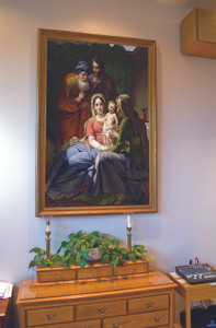 Church-Sized Holy Family with Grandparents Joachim and Anne Framed Canvas