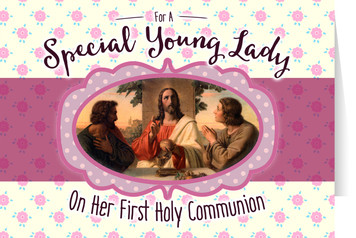 Young Lady's First Communion Greeting Card